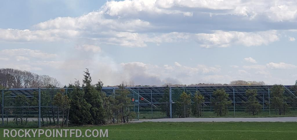 Smoke seen from Shoreham Solor Farm