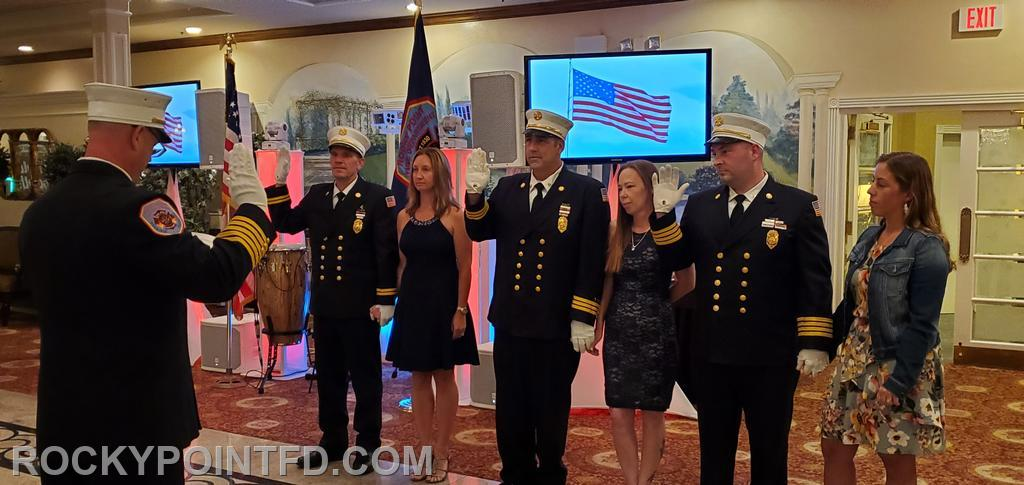Assistant Chiefs Sworn into Office by Chief of Department Fred Hess