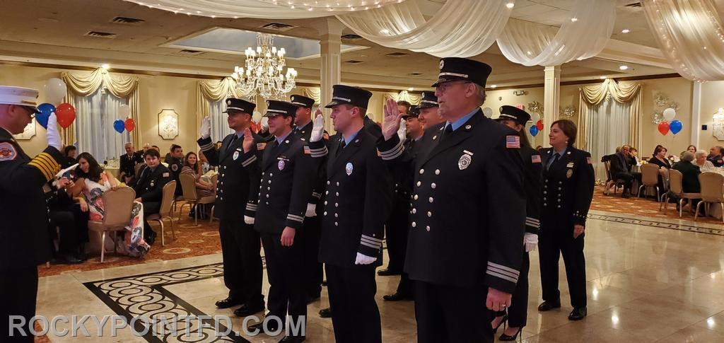 Company Officers sworn into Office by Chief of Department Fred Hess