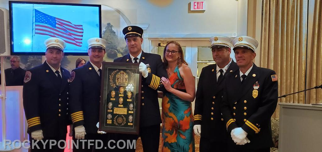 Chief of Department Years 2019-2020 Adam DeLumen with Wife Kim receives his Ex-Chief award.